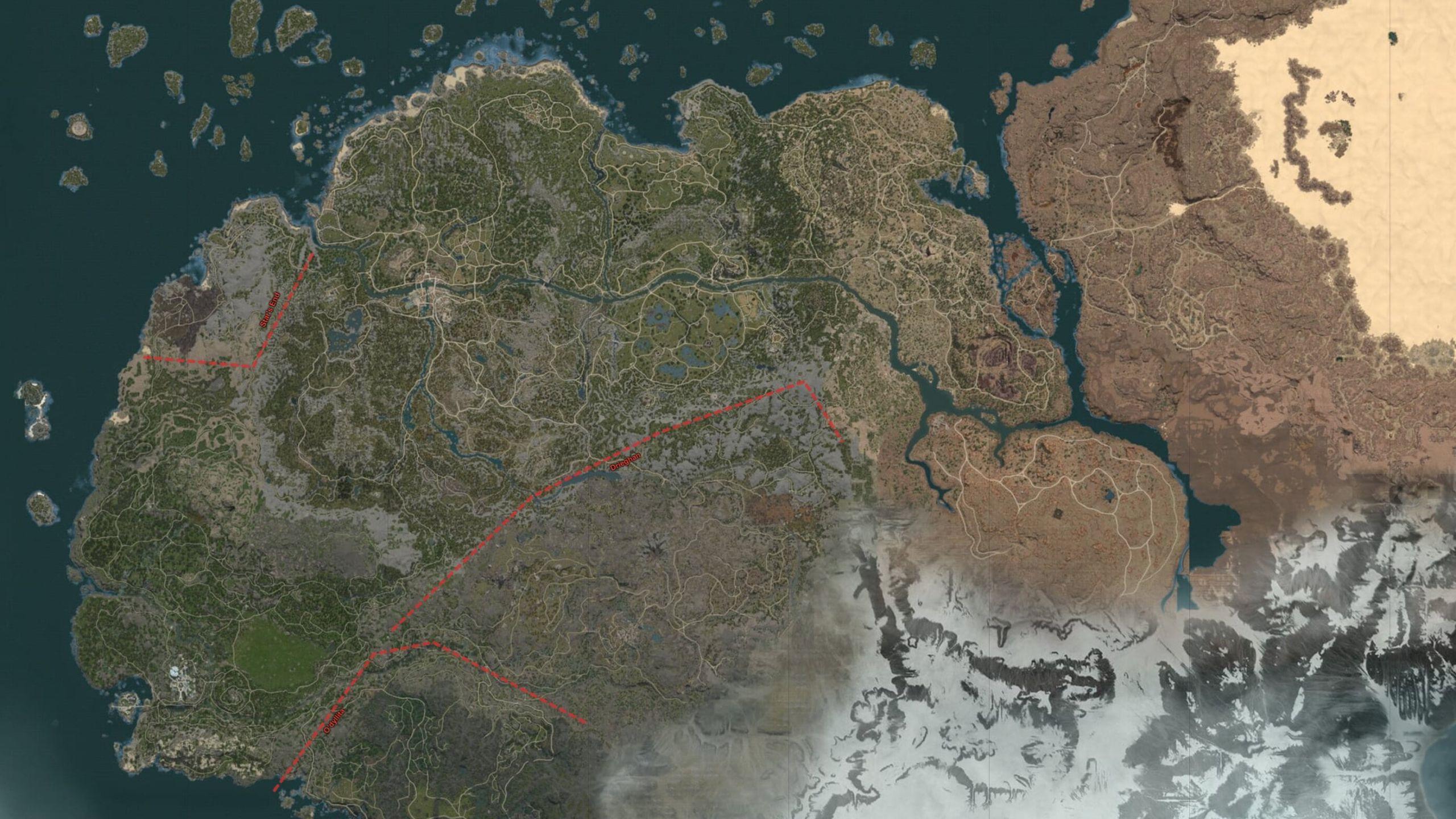Karte von Black Desert Online