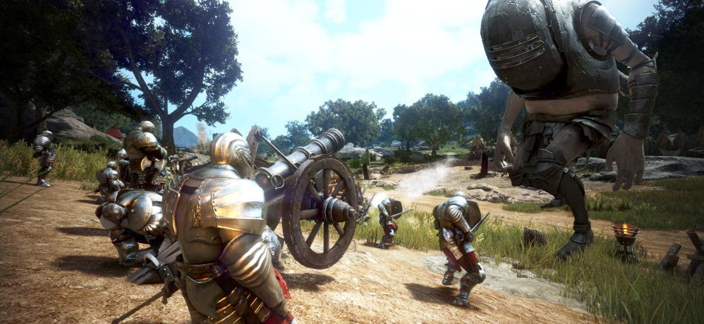 Oger im Angriff auf eine Bastion