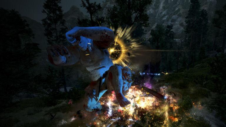 Spieler im Kampf gegen den Oger