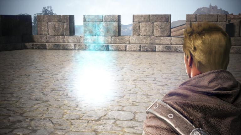 Flamme auf Burg Cron
