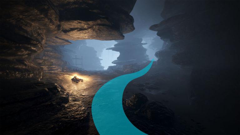 Östlicher Weg durch die Küstenhöhle