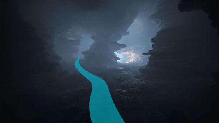 Westlicher Weg durch die Küstenhöhle