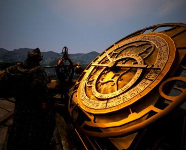 Uhr an der Sternenwarte