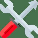 Schraubendreher und Schraubenschlüssel