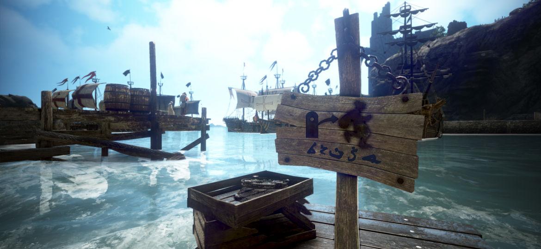 Schild am Hafen Velias