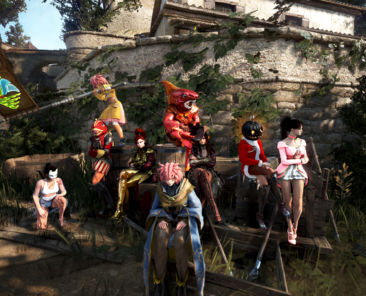 Gruppenbild der Teilnehmer zum Versteckspiel