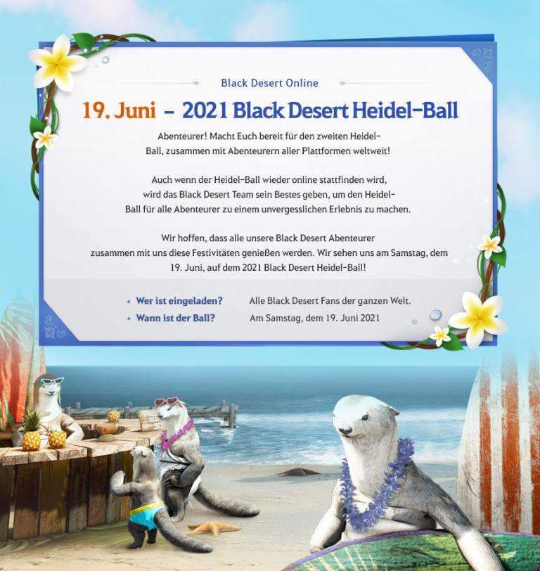 Ankündigung zum Heidel Ball 2021